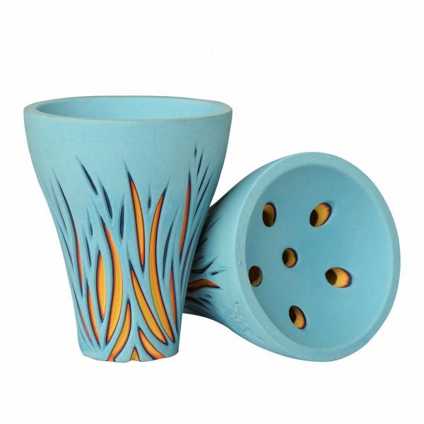 ShishaBulls BadBoy Bowl - Blue Spark